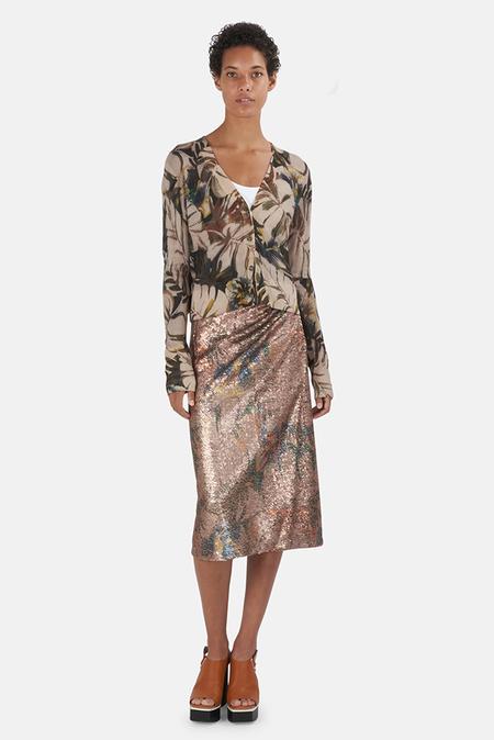 Le Superbe Wrap Skirt - Paradise Floral Sequin