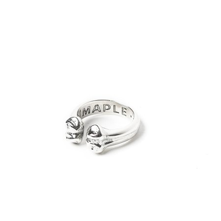 MAPLE BONE RING - SILVER