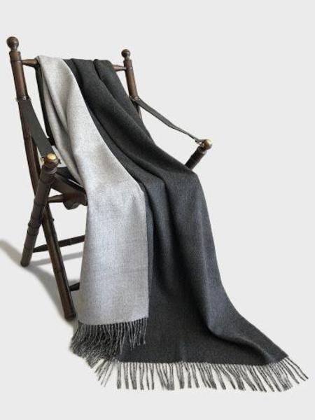 Latierra Alpaca Reversible Throw - Charcoal / Grey