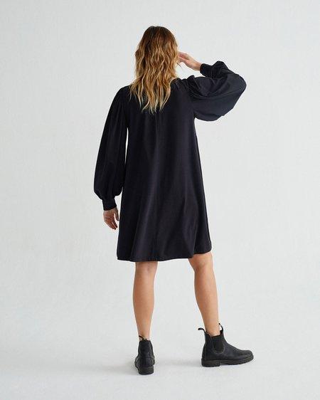 Thinking Mu W  Flora DRESS - Black