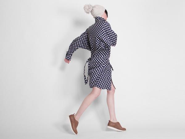 ffiXXed Collar Dress - Blue/White Check