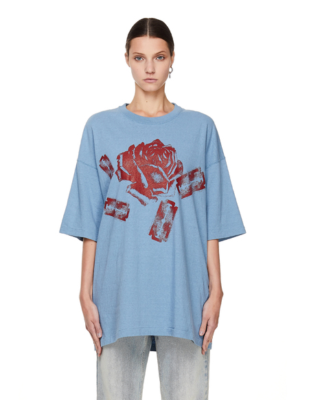 Undercover Flower Printed T-Shirt - Blue