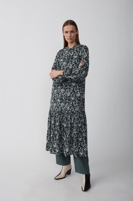 Just Female Effie Maxi Dress - Blue Flower