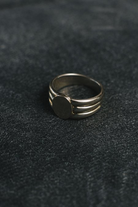 J. Hannah Silver Stacked Signet - Sterling silver