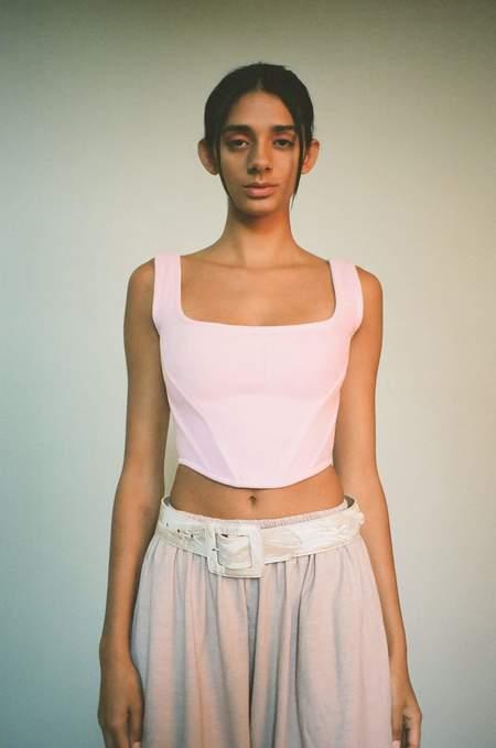 Priscavera Fleece Corset Top - Pink