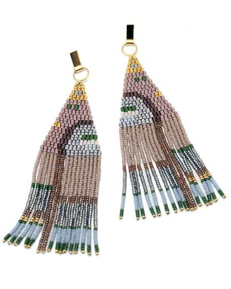 Bluma Project Hilma Earrings in Mocha - Gold Plated Brass / Glass Beads