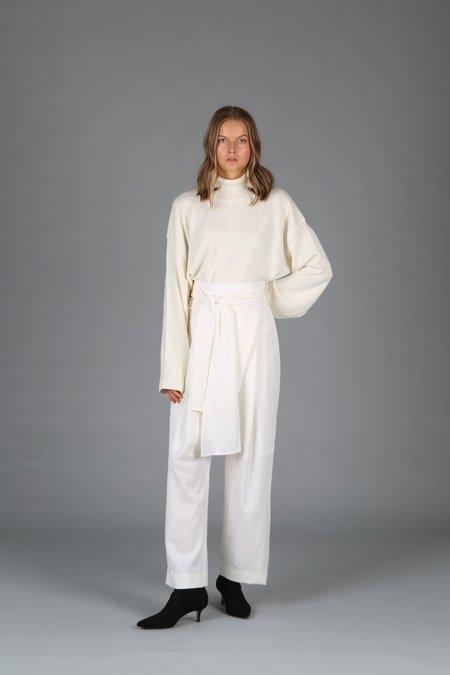 Le 17 Septembre Wrap Pants - Ivory