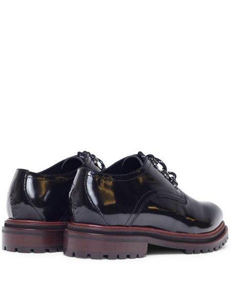 Hudson Wenlock Patent Shoe - Black
