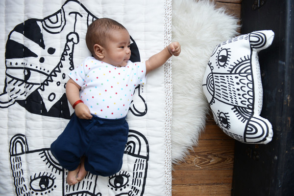 Kid's Wee Gallery ORGANIC QUILTED PLAY BLANKET - WILD