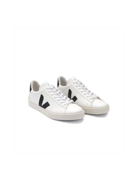 Unisex VEJA SEE Zapatillas Campo Chromefree Leather sneakers - White/Black