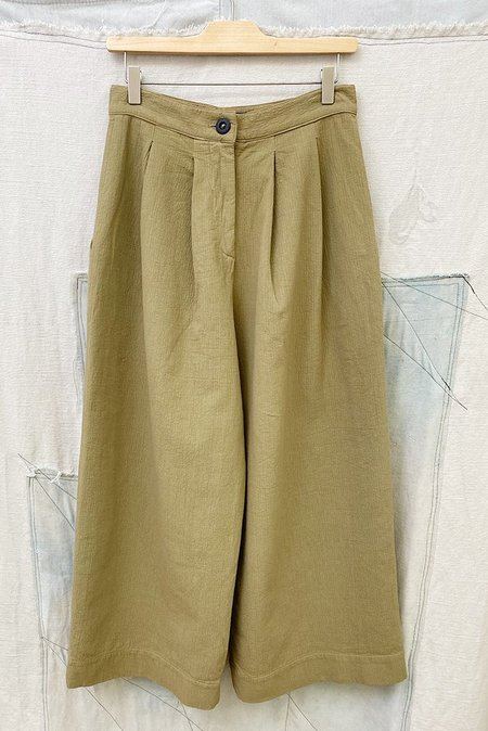 Toit Volant Cropped Wide Pant - Goth Olive
