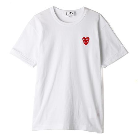 Comme Des Garcons Play Double Heart T-shirt - White