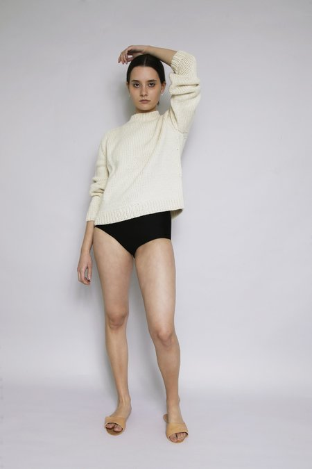 OUND HAND KNITTED MOLLE WOOL JUMPER - IVORY