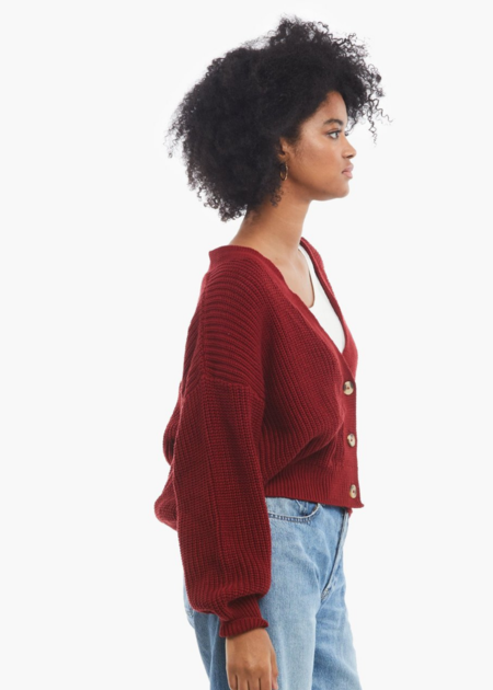 ABLE Virginia cardigan - cranberry