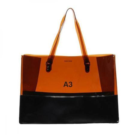 nana-nana Opaque A3 Bag - Brown/Black