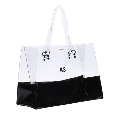 nana-nana A3 Bag - Clear & Black Opaque