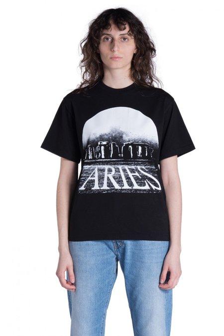Aries Arise Moonhenge T-shirt - Black