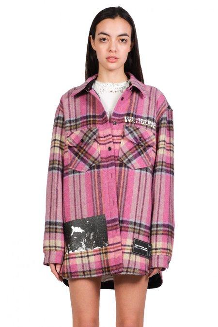 we11done Plaid Shirt - Pink