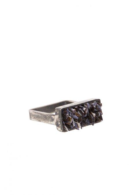 Yen Rectangle Mussel Ring