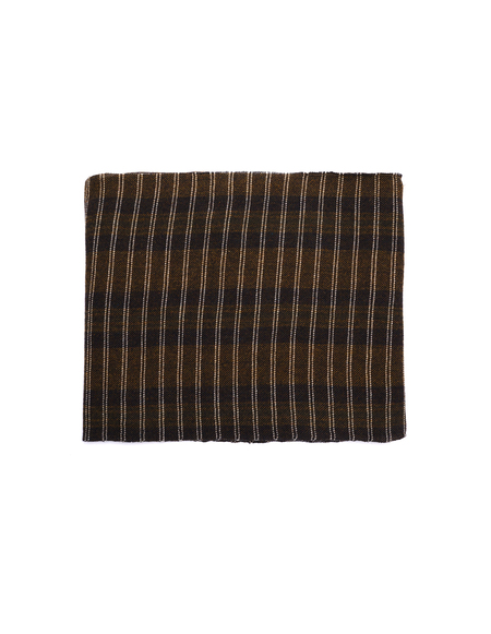 Ziggy Chen Wool Scarf - Brown / Green