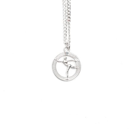 Maple Grace Pendant + Curb 60cm Chain - Silver 925