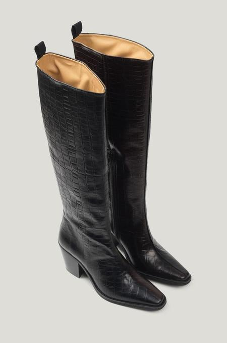 Just Female Milano Boots - BROWN / BLACK