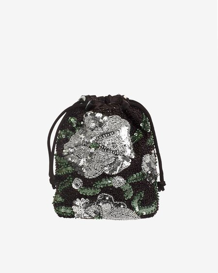 HVISK POUCH WATER LILY BEAD bag - BLACK