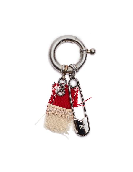 Raf Simons Safety Pin Keyring - Silver