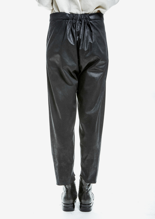 Berenik Trousers Shiny Cotton - Black