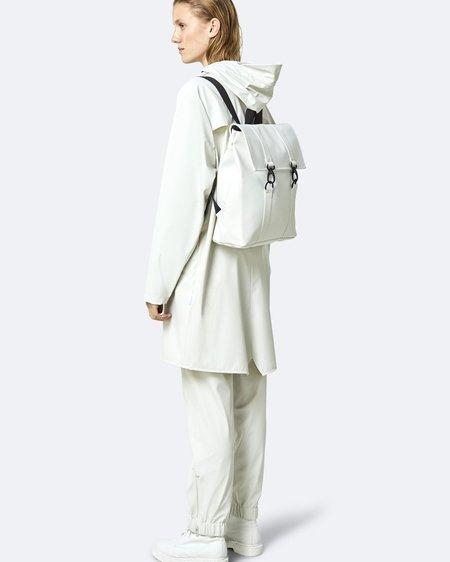 Unisex Rains Mochila MSN Bag Mini - Off White