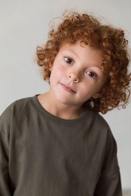 KIDS I DIG DENIM Blake Organic Sweater - DARK GREEN