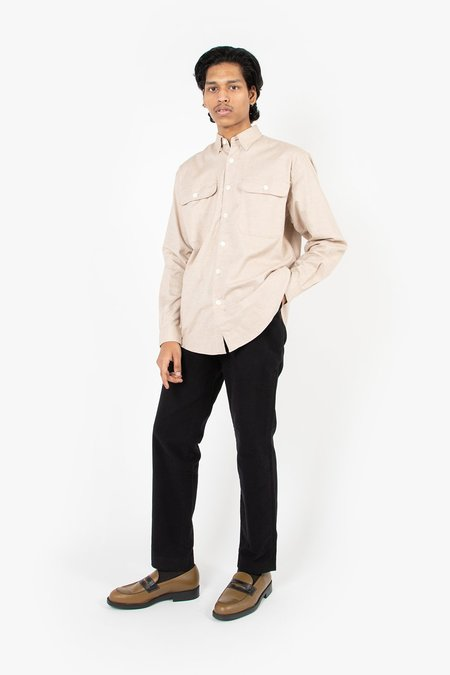 Schnayderman's Boxy Cashmere Solid Shirt - Camel