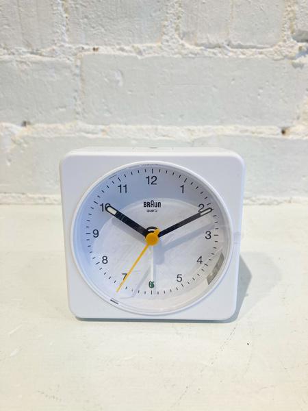 Braun Alarm Clock - White/white