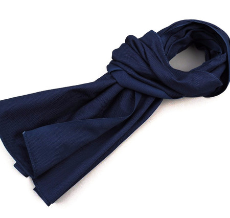 The Hillside Scarf - Lightweight Indigo Sashiko