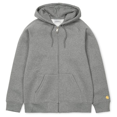 CARHARTT WIP HOODED CHASE ZIP UP sweater - dark grey