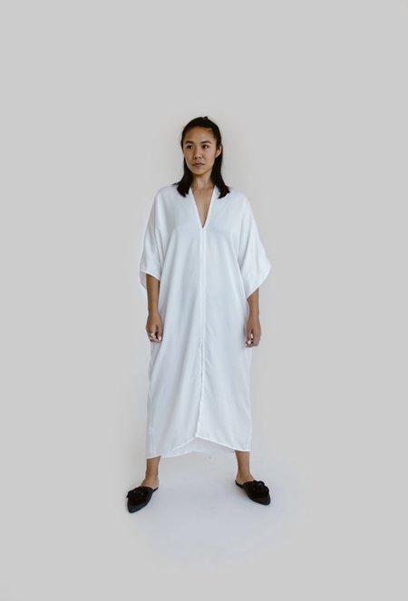 m e ç l â Nina Dress in Tencel - WHITE