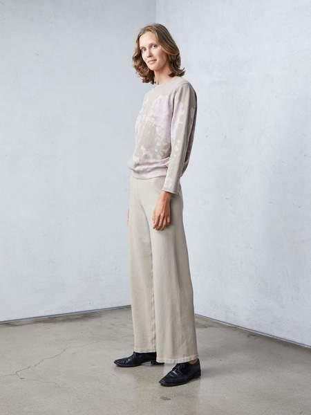Raquel Allegra Vintage Fleece Small Sweatshirt - Taupe Lilac