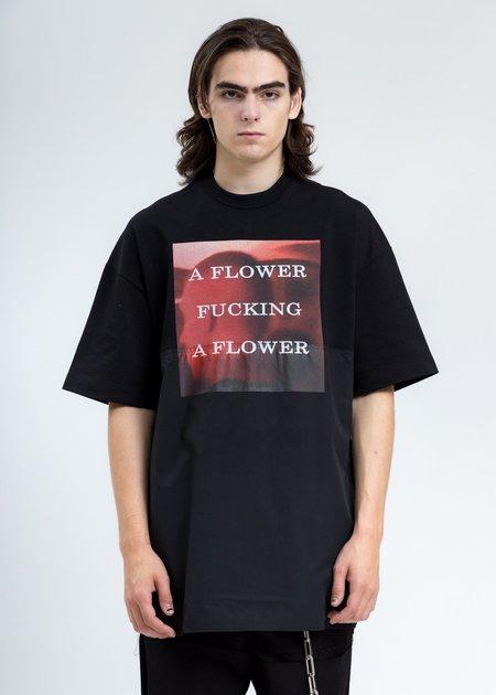 ALMOSTBLACK Photo Print T-Shirt - BLACK