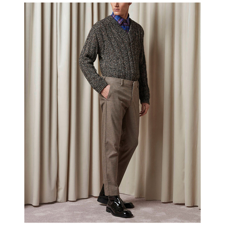 NN07 Cade Trouser - Brown Check