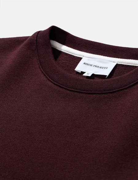 Norse Projects Vagn Classic Crew Sweatshirt - Eggplant Brown