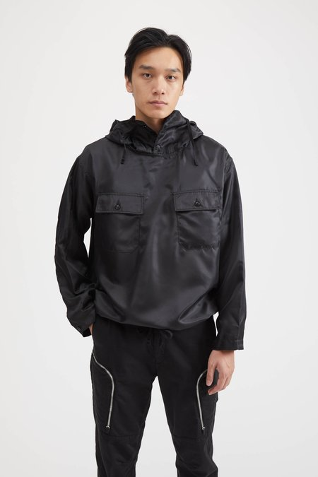 Engineered Garments CAGOULE SHIRT IN POLYESTER PILOT TWILL - BLACK
