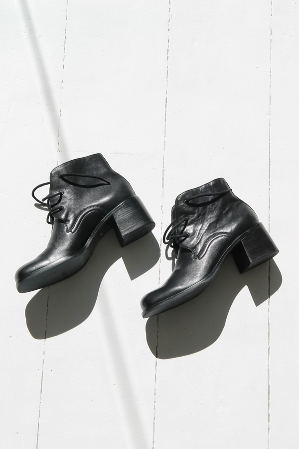 DUO NYC Vintage Lace Up Ankle Boots