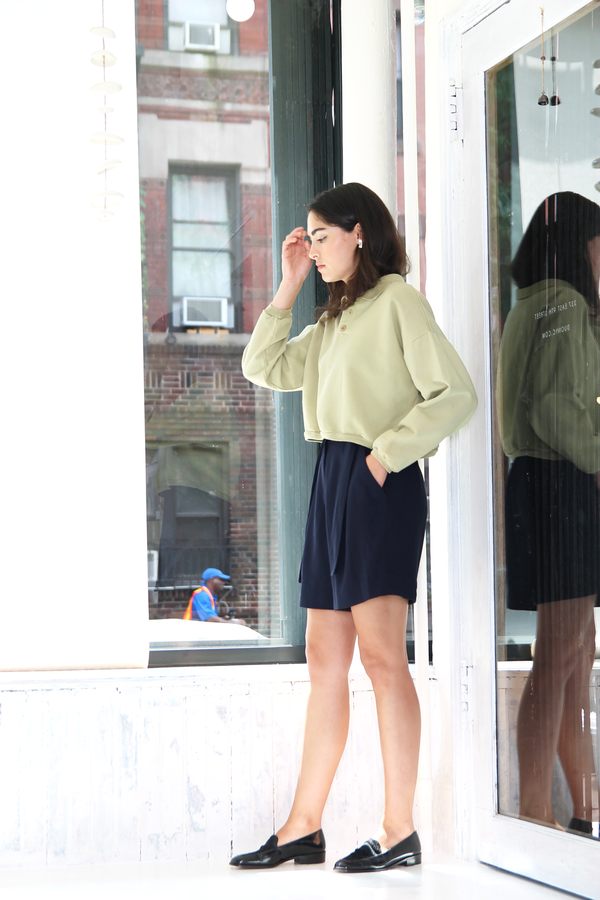 DUO NYC Vintage Cropped Pullover