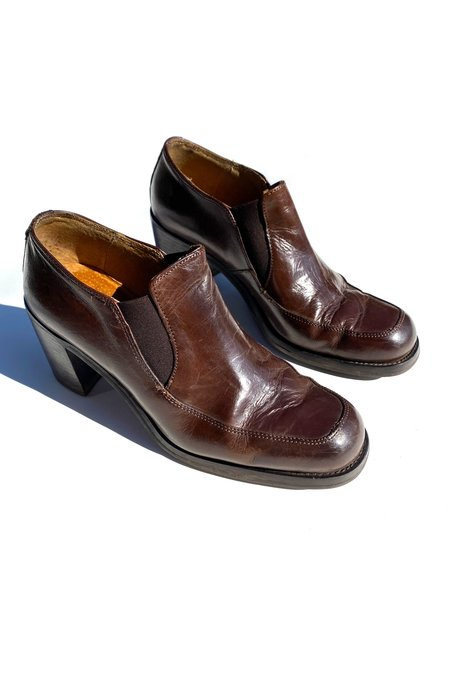 Vintage Leather Loafers - Brown