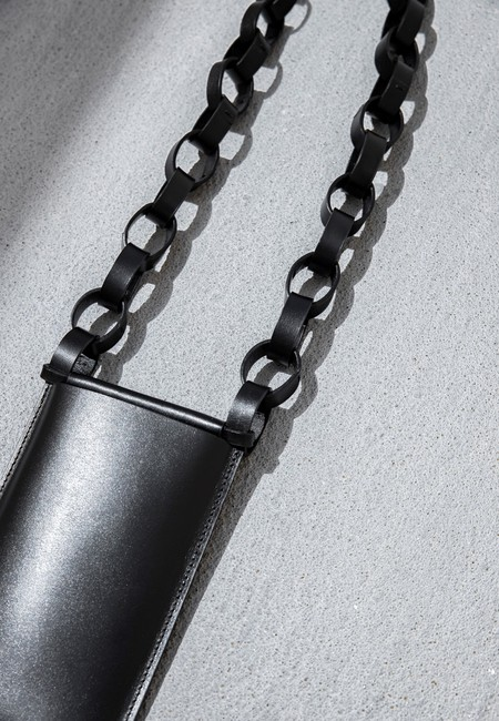 Building Block Iphone Sling Bag With Chain - Black