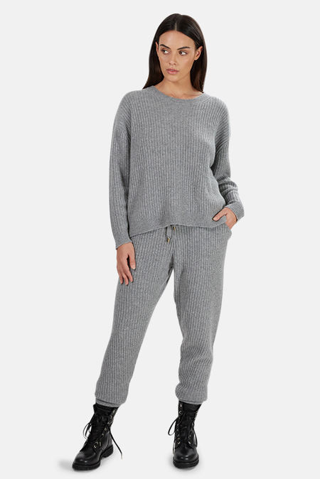 Tile Club Evelyn Ribbed Cashmere Sweater - Grey