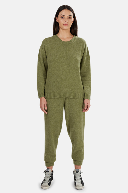 The Tile Club Jackson Cashmere Sweater - Army