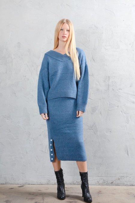 Six Crisp Days Lytha Sweater - Powder Blue