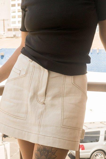 back beat rags Hemp Utility Skirt - Natural
