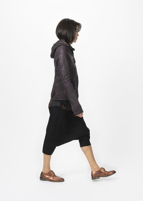 Rundholz Hooded Leather Coat